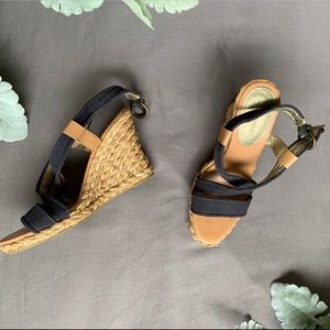 Banana Republic braided rope wedges